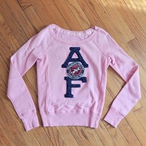 Abercrombie & Fitch Bright Pink Fleece Top Sz S